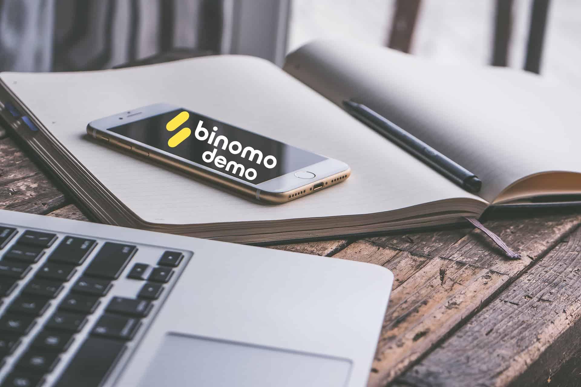 trading with binomo mobile app 2